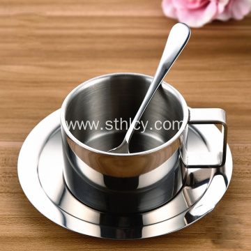 304 Stainless Steel Coffee Cup Set Of Three